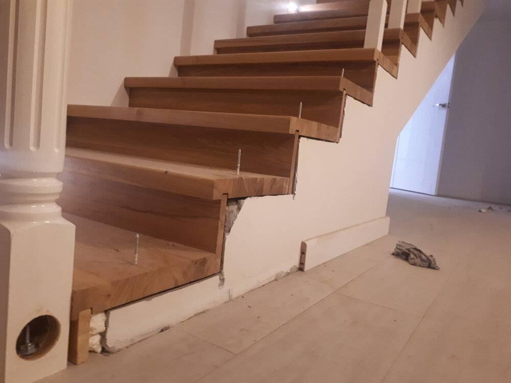 Отделка бетонной лестницы: материалы, технология, пошаговая инструкция