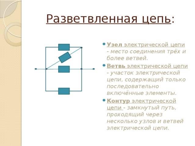 Электрическая цепь и составные её части