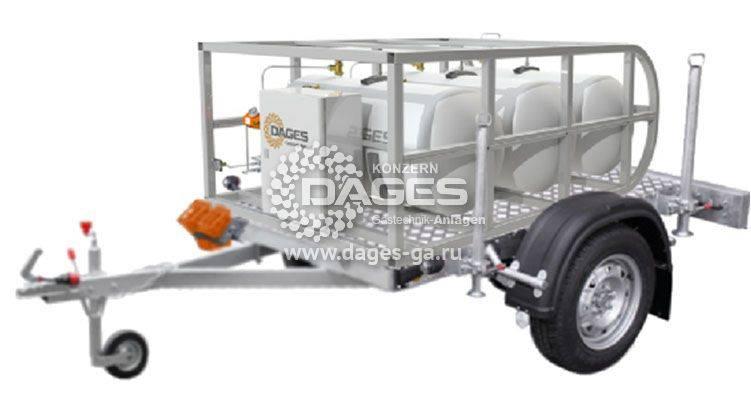 Мобильный газгольдер на автомобильном прицепе - передвижная газификация