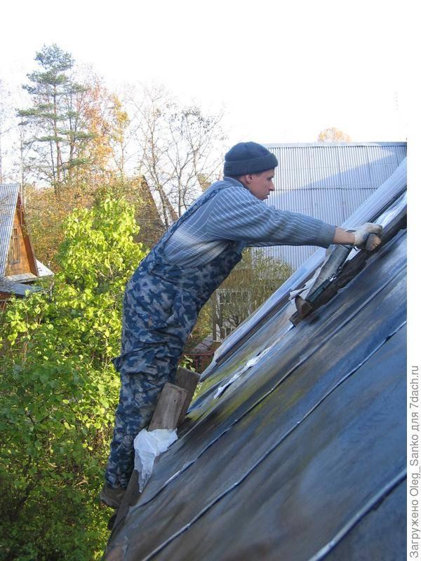 Как рубероидом покрыть крышу гаража