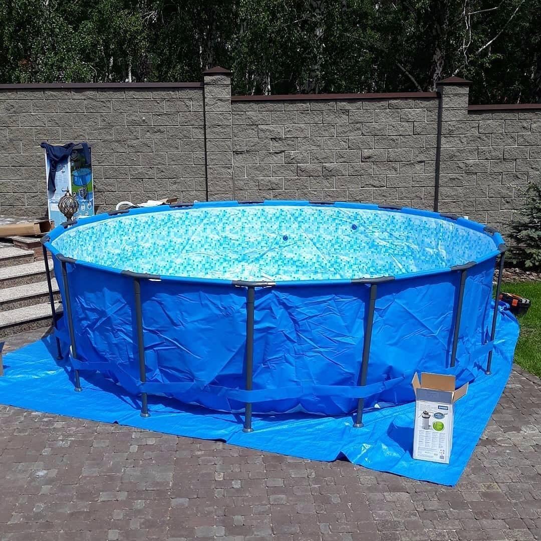 Пошаговая инструкция по изготовлению каркасного бассейна своими руками из подручных материалов