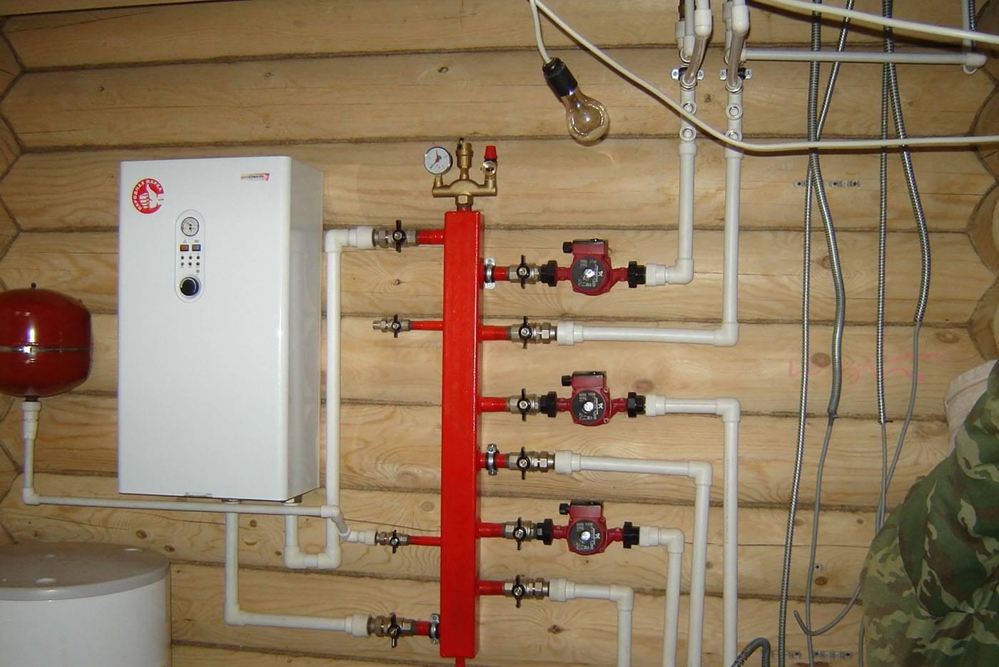 Установка газового конвектора в деревянном доме