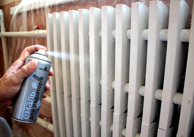 Окрашивание радиаторов отопления: выбор краски подготовка и проведение работ