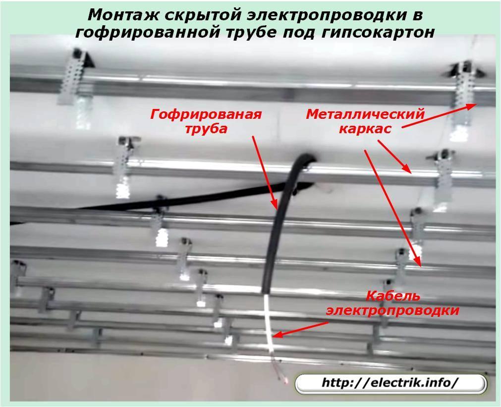 Труба пвх для электропроводки: виды (гофрированная, гладкая), таблица размеров и диаметров, монтаж своими руками