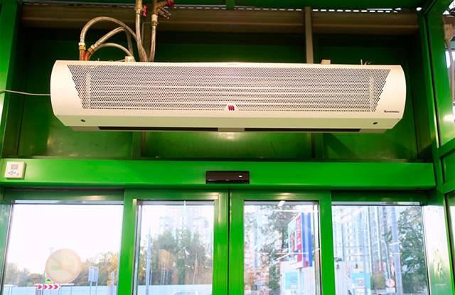 ☀ тепловая завеса на входную дверь: комфортная температура в помещении при любом морозе