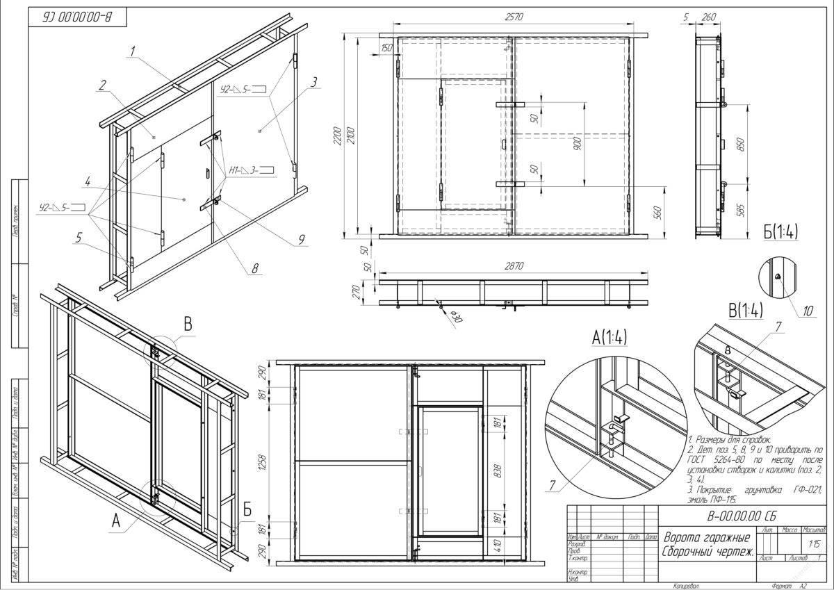 Самостоятельное строительство ворот для гаража: пошаговая инструкция