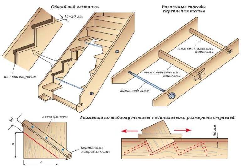 Лестница в подвал своими руками из дерева и бетона: расчеты, технология монтажа