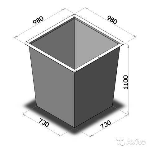 Мусорные контейнеры (баки) металлические для тбо