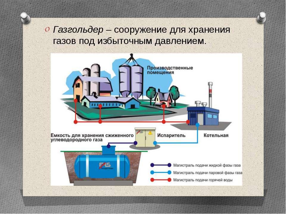 Что такое газгольдер и его роль в автономной газификации, преимущества и недостатки