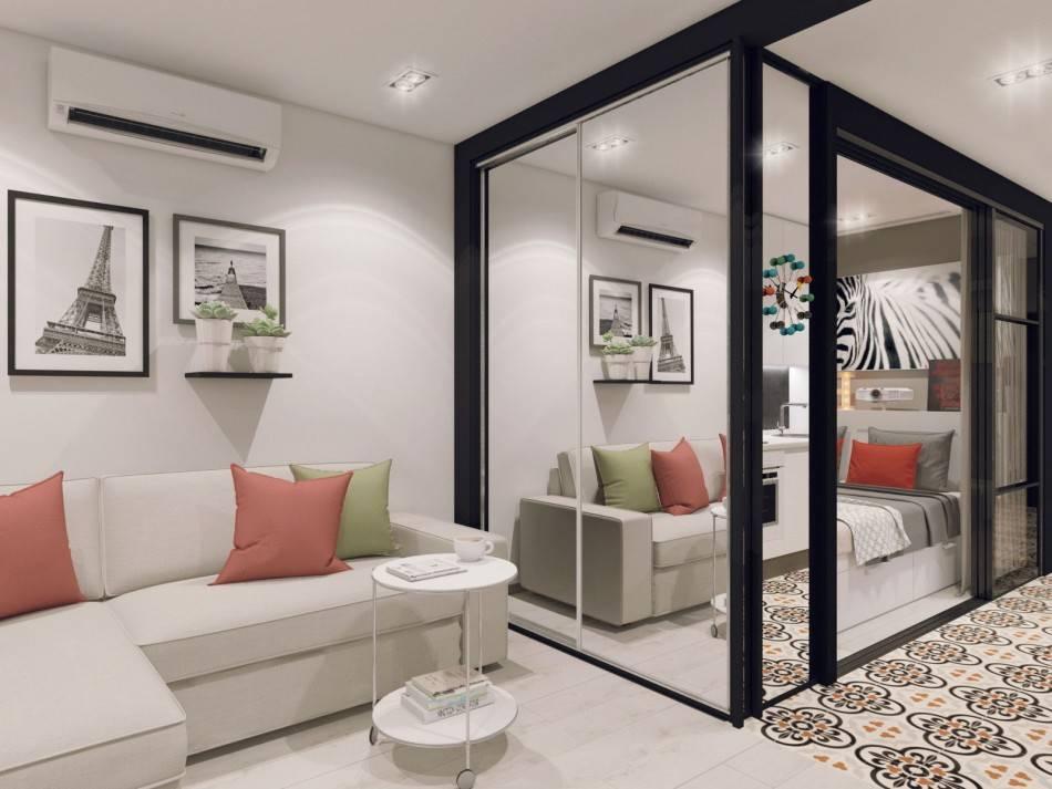 Дизайн однокомнатной квартиры 35 кв. м (64 фото): идеи для ремонта, интересный проект