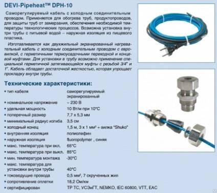 Калькулятор расчета длины греющего кабеля для водопровода - с пояснениями