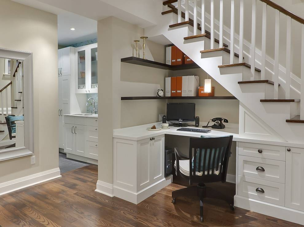 Идеи как использовать пространство под лестницей: 90 фото лучших решений и особенности лучших сочетаний дизайна