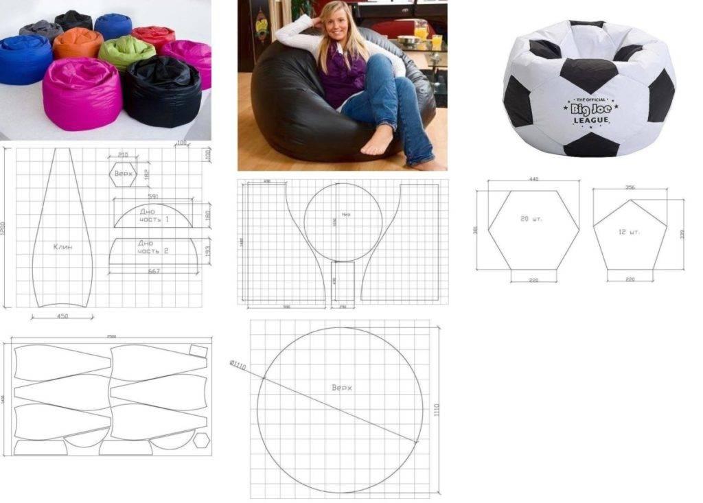 Как сделать пуфик своими руками в домашних условиях - подборка пошаговых мастер-классов для начинающих (74 фото)