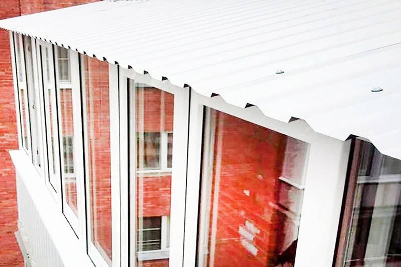 Крыша балкона на последнем этаже своими руками: установка и герметизация