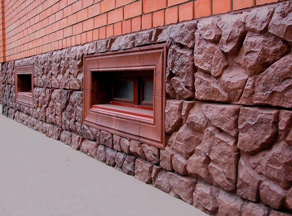 Отделка цоколя частного дома штукатуркой, под камень, сайдингом, профлистом