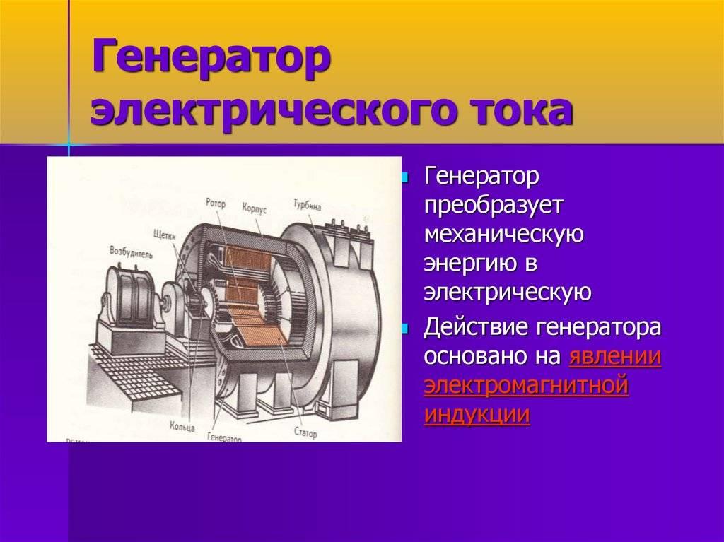 Устройство генератора тока  | у электрика.ру