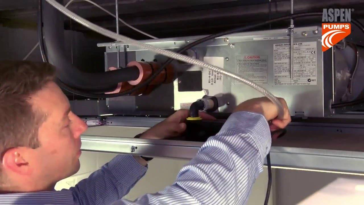 Замена дренажных помпы и насоса в кондиционере