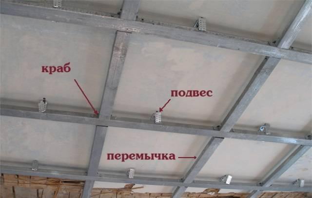 Урок 10. как сделать каркас для гипсокартона на потолке