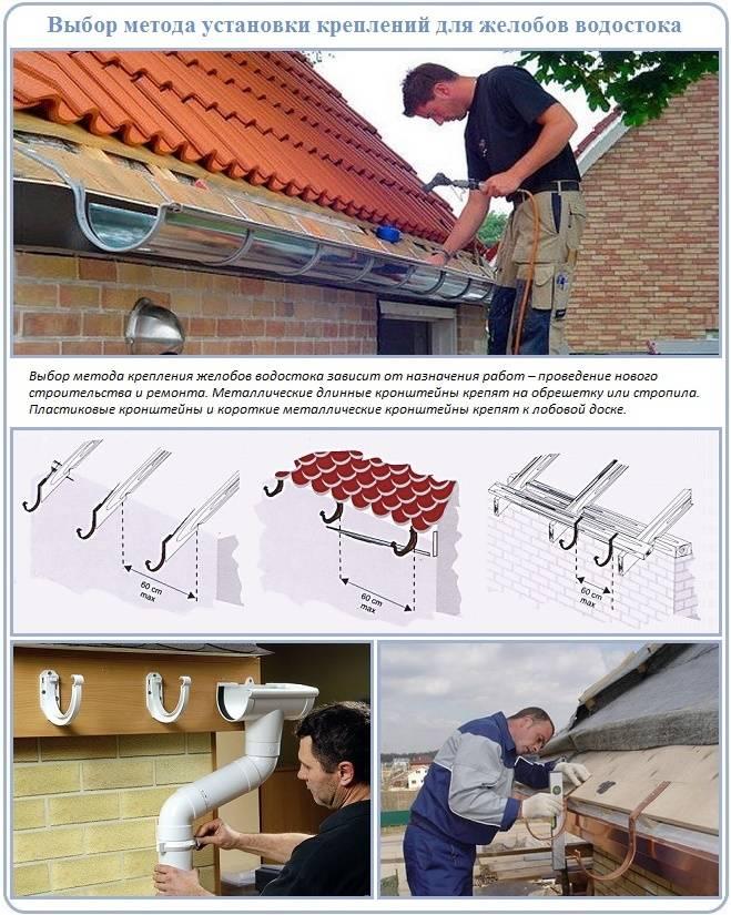 Водосливные системы для кровли: как сделать водостоки для крыши своими руками в доме