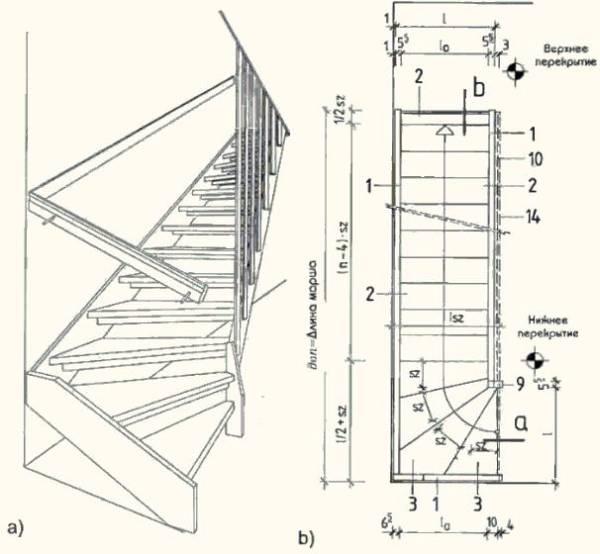 Лестница на второй этаж своими руками из дерева с поворотом на 90: изучаем вместе