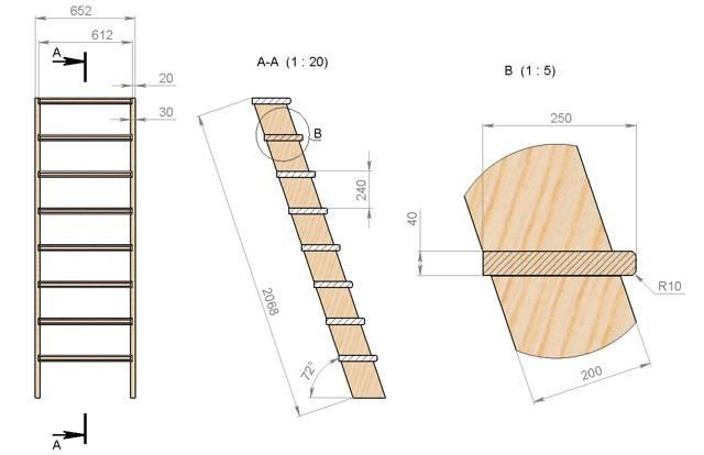 Лестница в погреб своими руками: как сделать и необходимые материалы