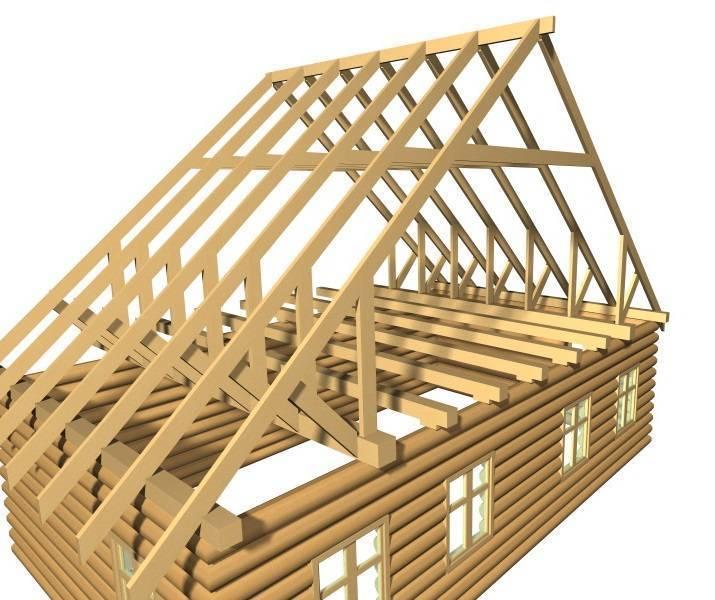 Способы установки стропил двухскатной крыши