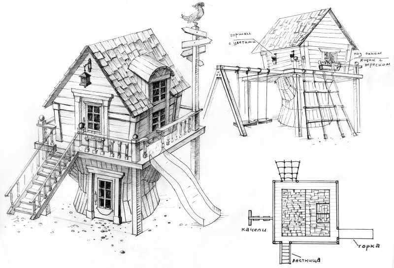 Игровой домик своими руками - 50 примеров