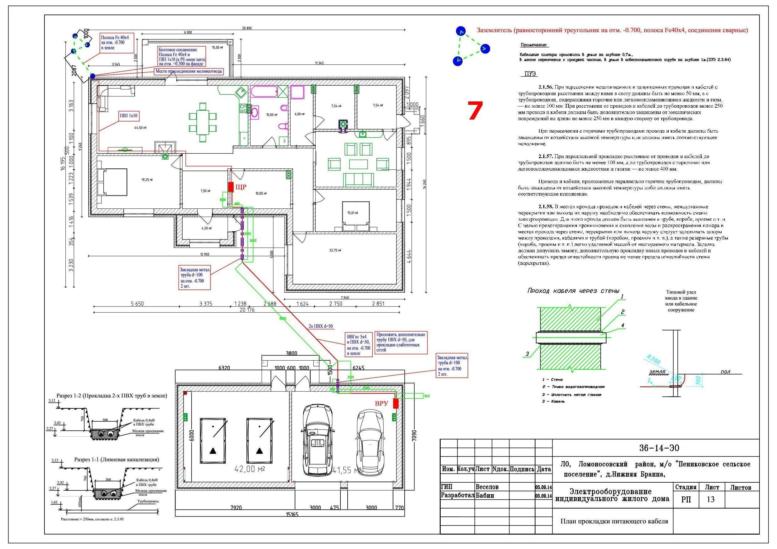 Наглядный пример электропроекта квартиры
