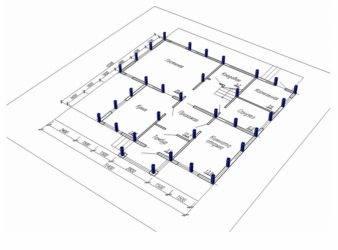 Как определить расстояние между винтовыми сваями