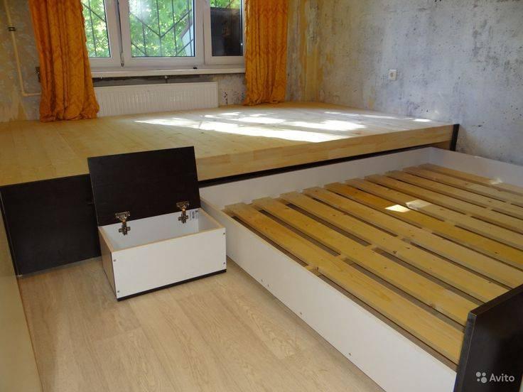 Кровать-подиум: нестандартные решения для комфортного сна (+71 фото)