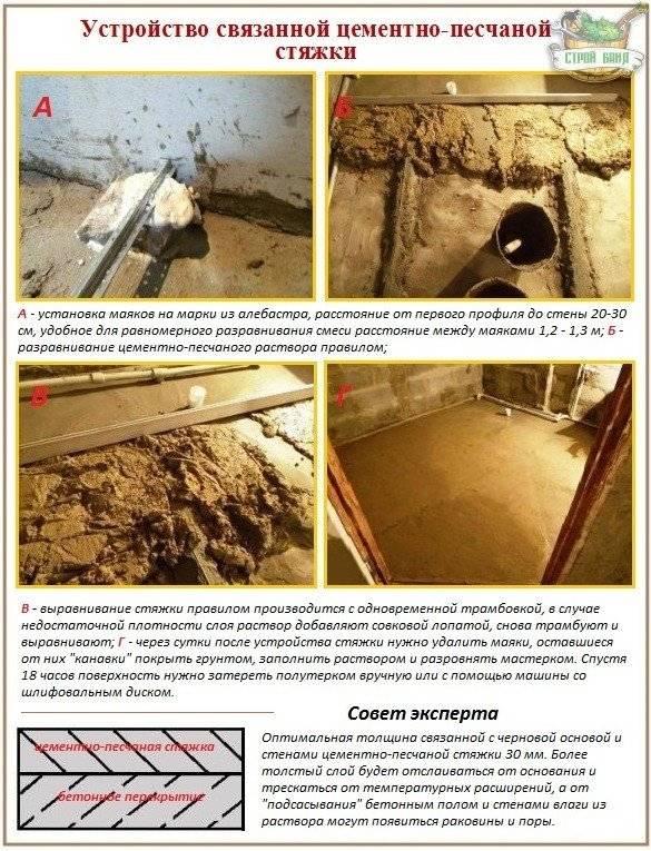 Технология изготовления бетонного пола в гараже: как залить и выровнять своими руками
