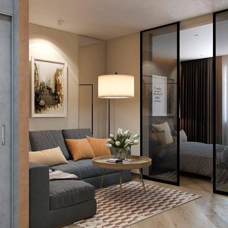 Дизайн квартиры-студии площадью 31-35 кв. м. (55 фото): проект студии 31-35 метров, планировка кухни-гостиной