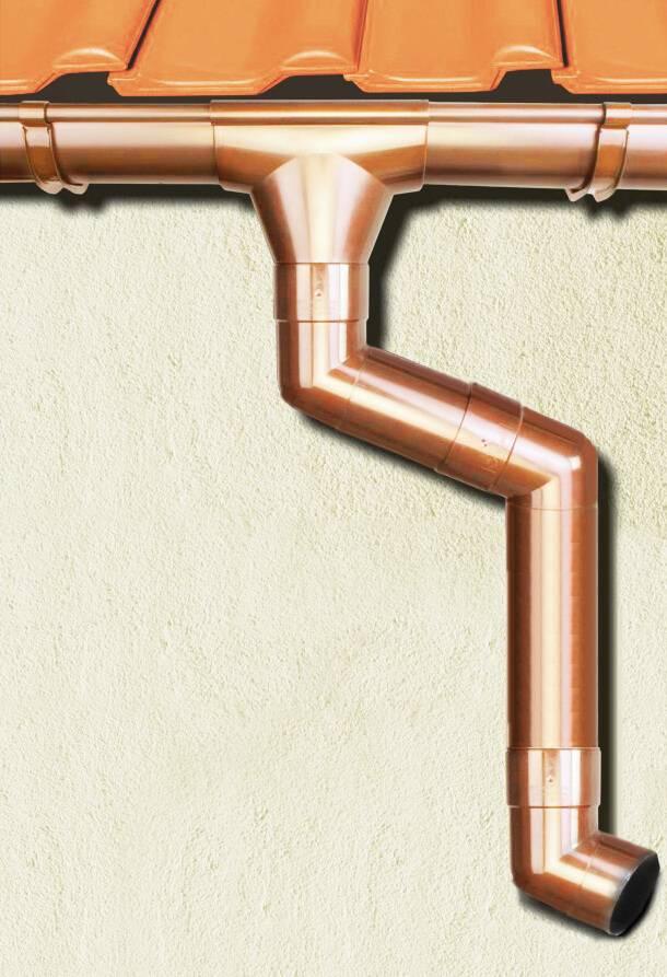 Водосточная система grand line: металлические водостоки размером 125x90, белый желоб с диаметром 125 мм