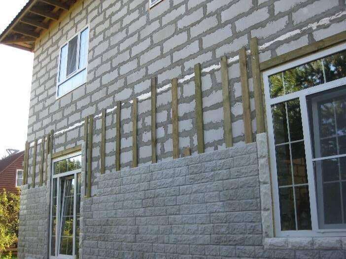 Материалы для наружной отделки домов из газобетона