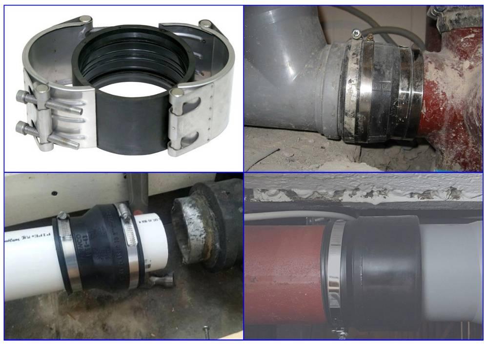 Как соединить чугунную канализационную трубу с пластиковой - варианты и примеры