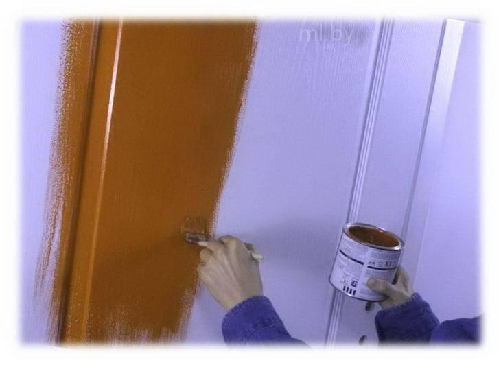 Покраска металлической входной двери