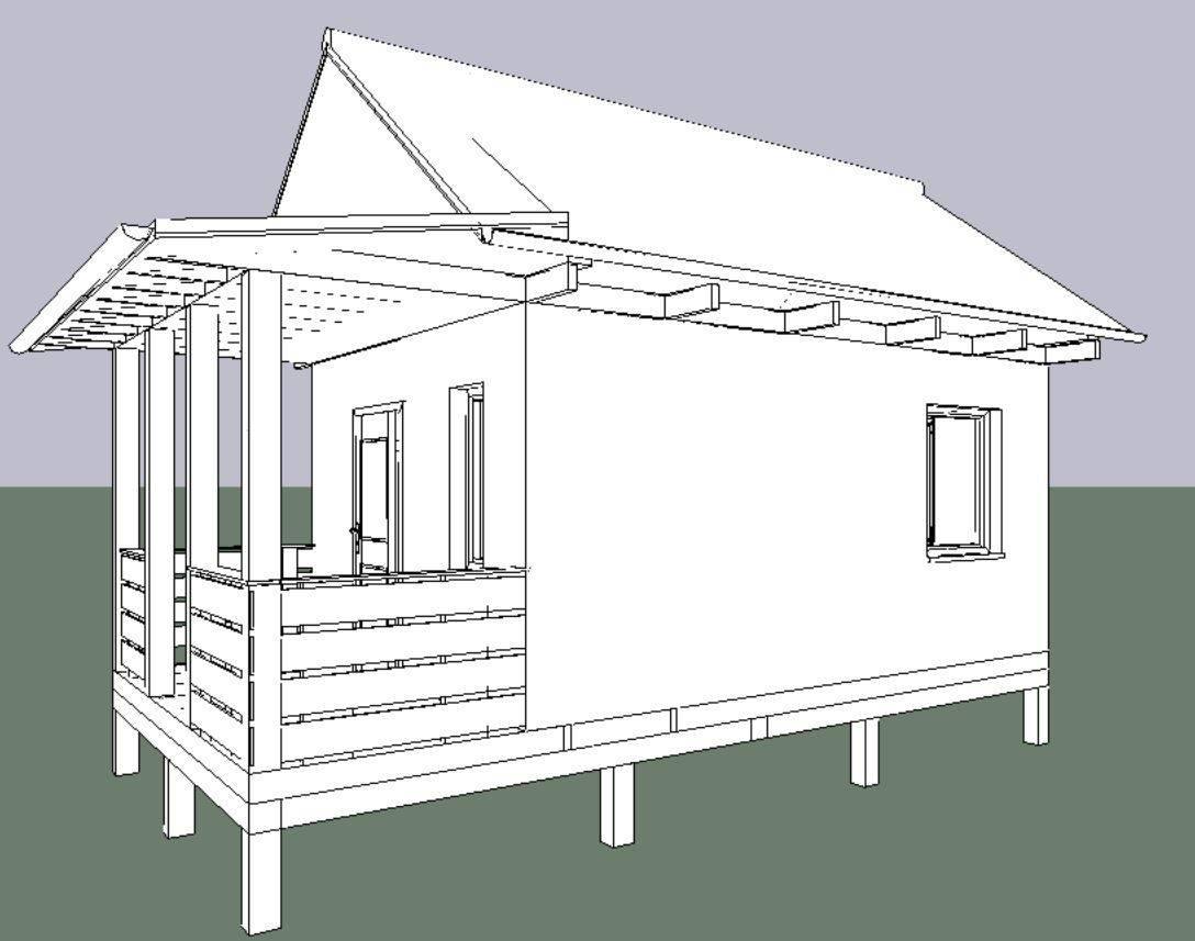 Беседка с односкатной крышей своими руками ( фото, чертежи)