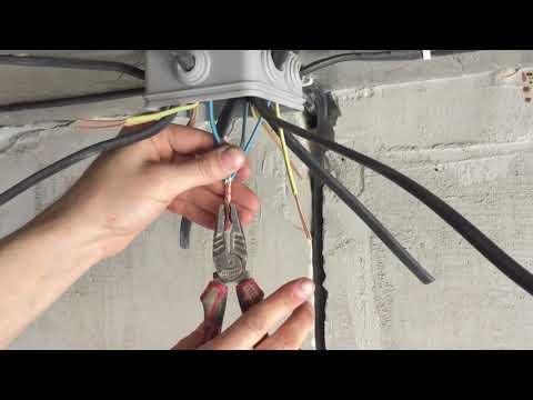 [инструкция] соединение проводов в распред. коробке