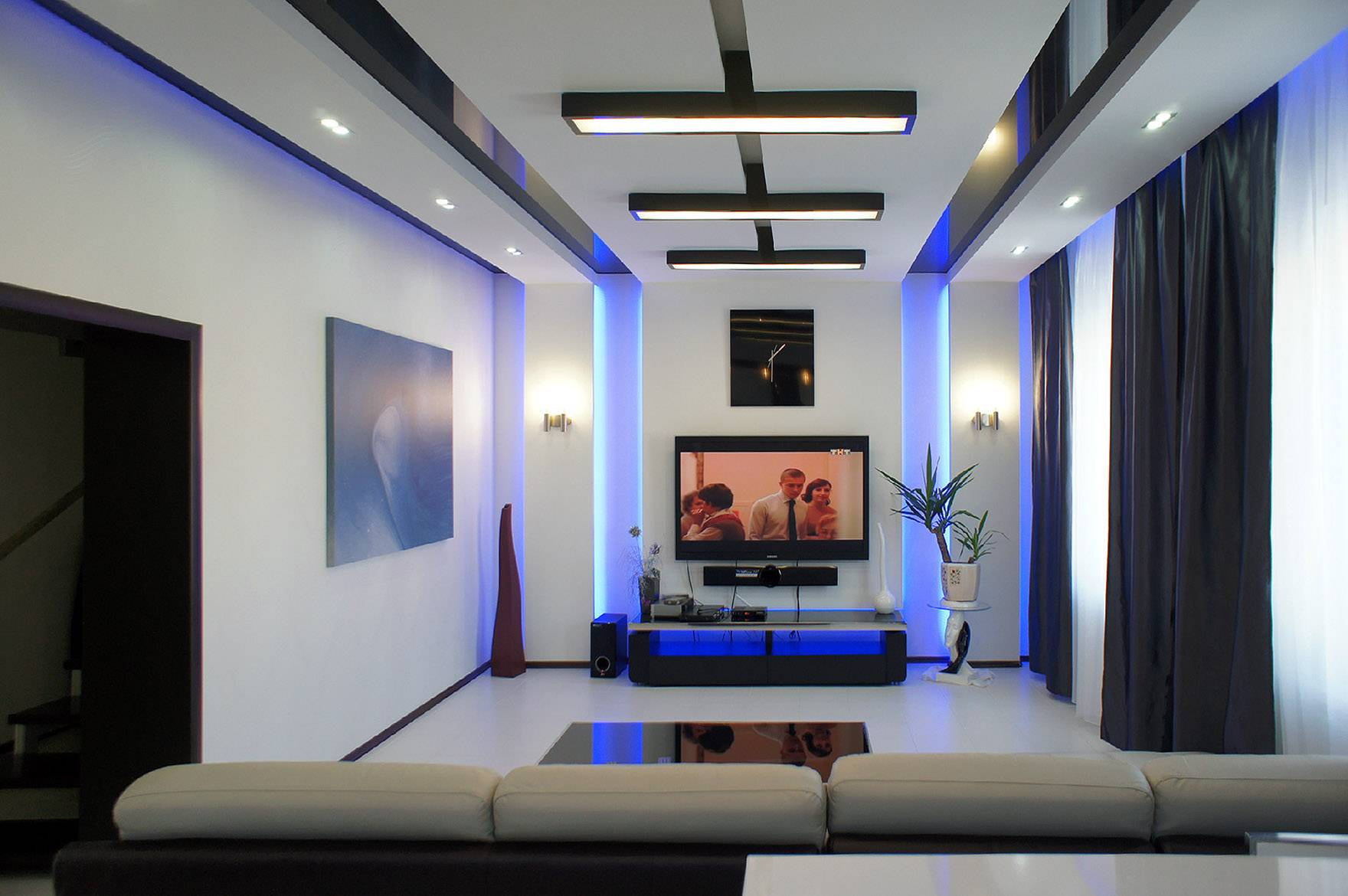 Светодиодная подсветка в интерьере квартиры