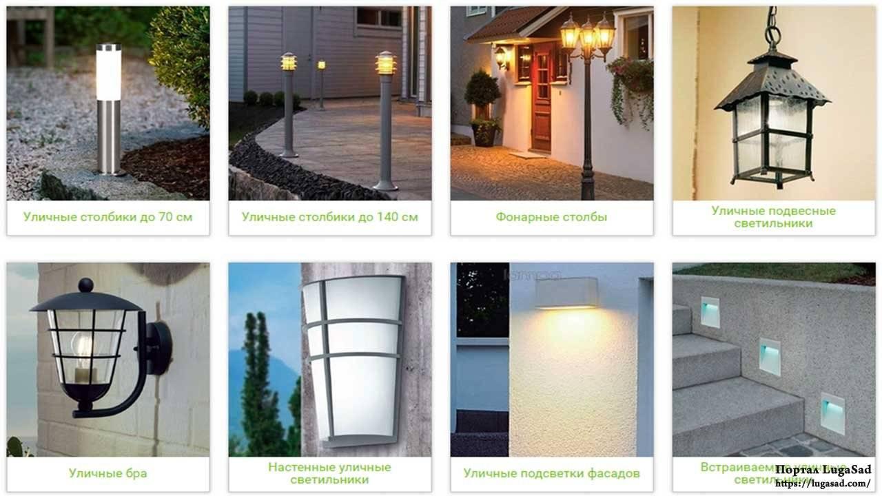 Уличное освещение — виды и типы ламп и светильников, основные способы управления светом
