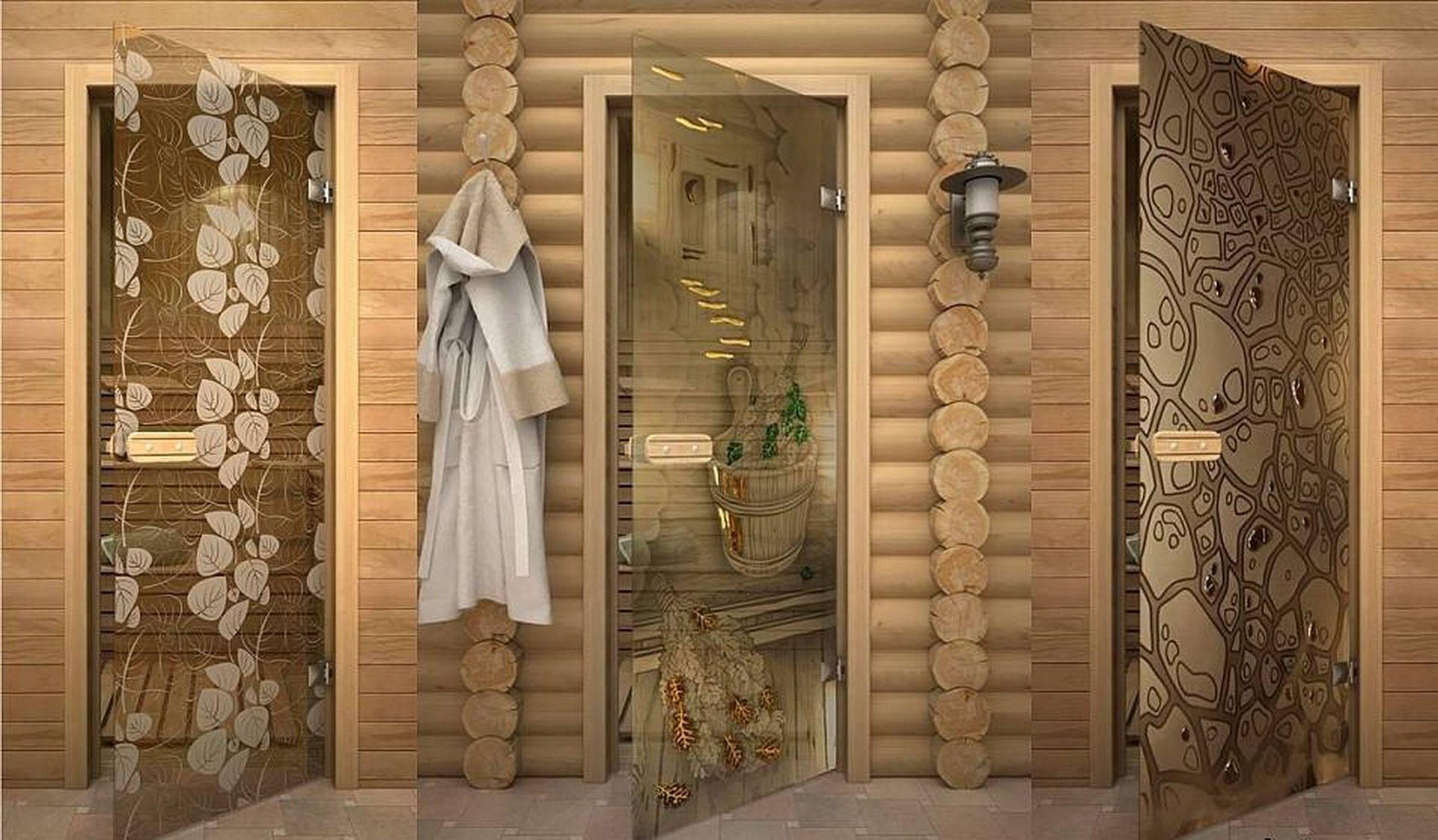 Порядок установки стеклянной двери в парилку