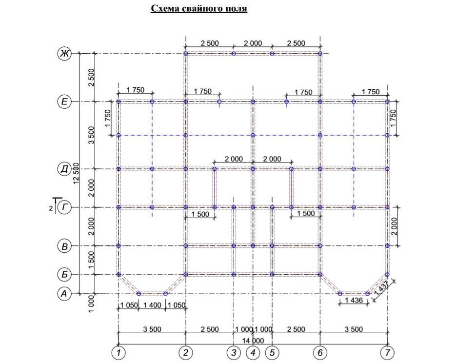 Расчет расстояния между буронабивными сваями в свету