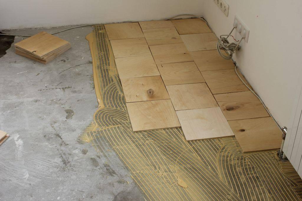 Укладка фанеры на деревянный пол саморезами