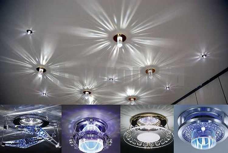 Светодиодные светильники для натяжных потолков (66 фото): встроенные потолочные люстры, какие выбрать, как расположить, как заменить