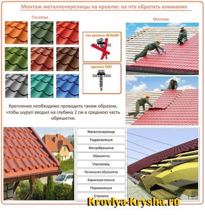 Укладка металлочерепицы шаг за шагом: инструкция, технология, правила