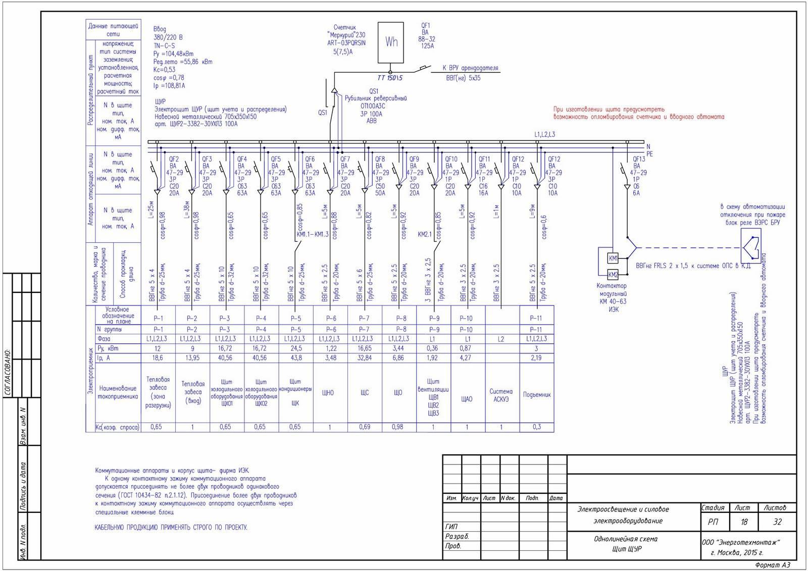 Как нарисовать однолинейную схему электроснабжения в автокаде