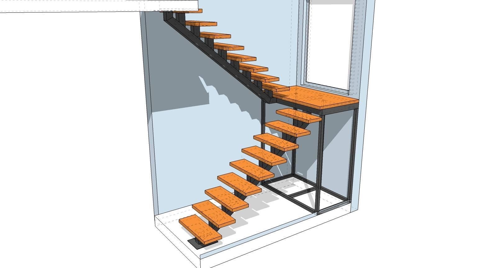 Приставная лестница (стремянка) из профильной трубы своими руками