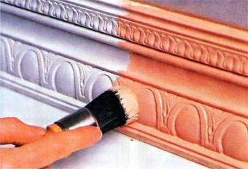 Как покрасить потолочный плинтус из пенопласта – рекомендации и советы