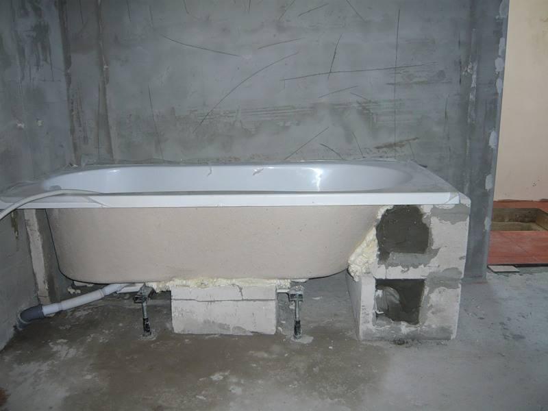 Как произвести установку акриловой ванны своими руками – понятная инструкция