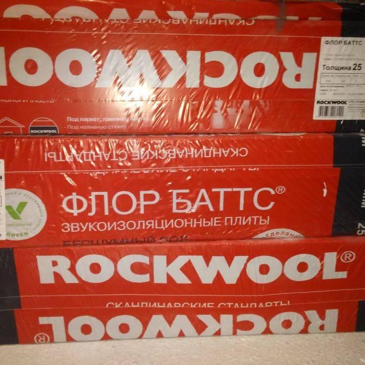 Теплоизоляционные плиты rockwool серии флор баттс